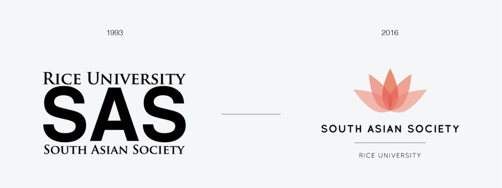 Evolution of South Asian Society's brand to convey simplicity, elegance, and unity.