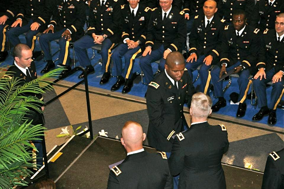 Graduating from the United States Army Chaplain Center and School at the top of my class
