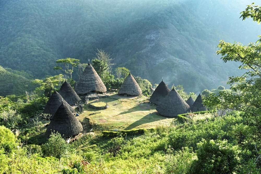 The scenery of Waerebo village is very beautiful