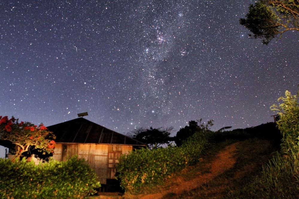 WaeRebo Village at night.