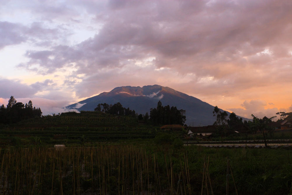 Andong, during sunset.