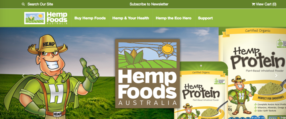 Hemp Foods Australia - Current website in production for a refresh!
