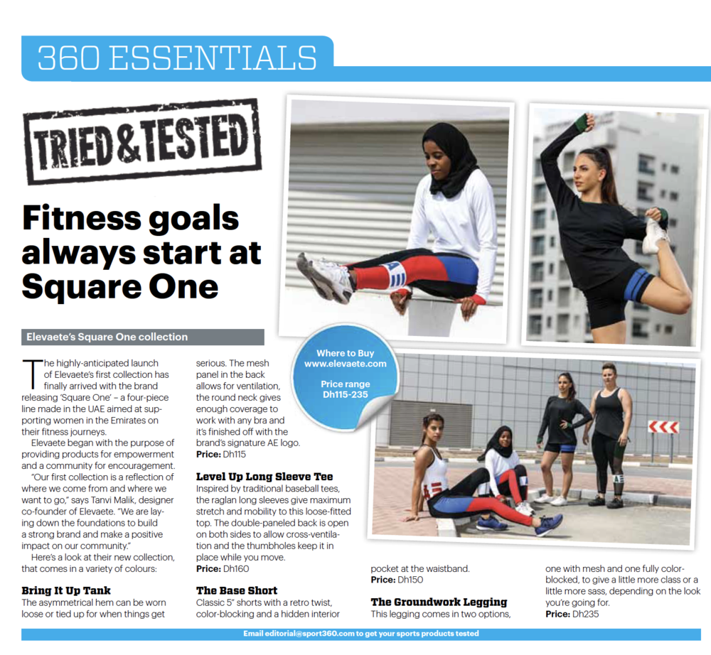 Sport 360 April 2017 Tried & Tested: Square One