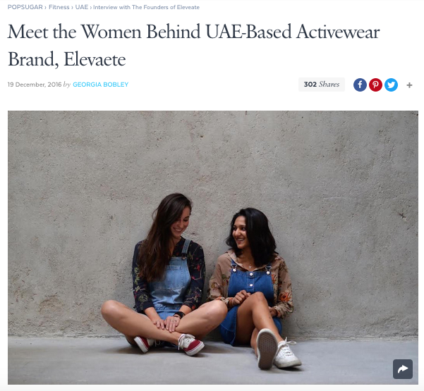 POPSUGAR Middle East December 2016  Meet the Women Behind UAE-Based Activewear Brand, Elevaete