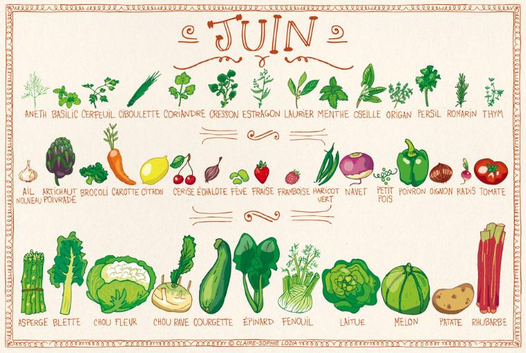 Les légumes de juin