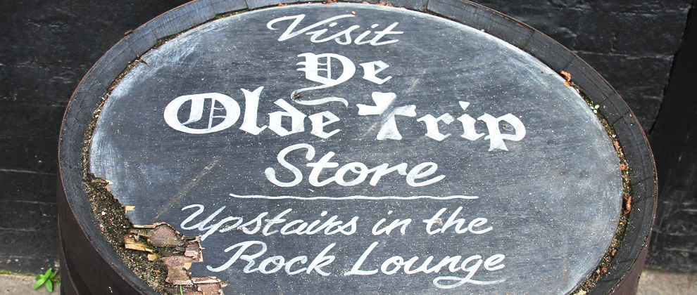 Visit the Olde Trip's online shop for merchandise and souvenirs
