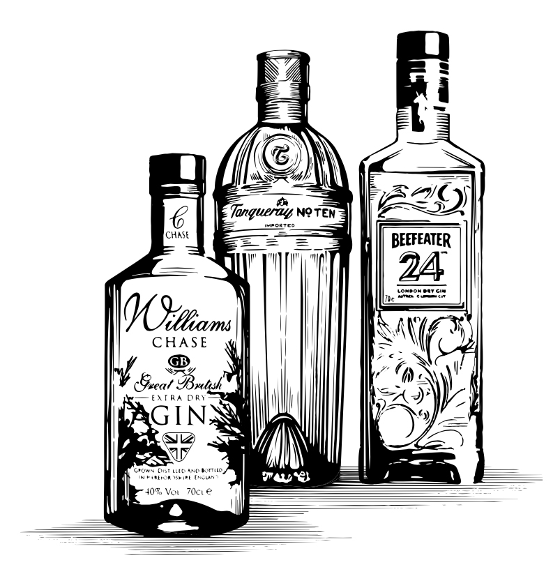 We have some amazing gins availble in the pub, along with some other popular spirits and whiskeys.