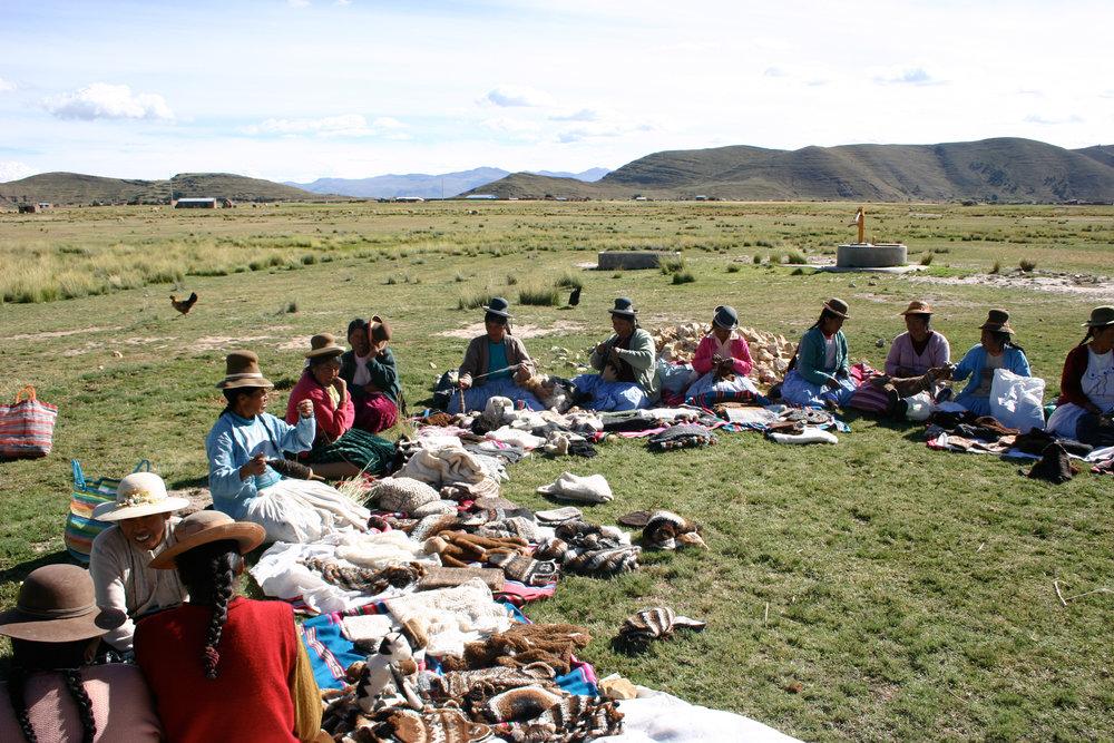 Productive Fair Trade artisans in Juliaca Peru