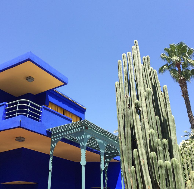 Villa Oasis, YSL's home at Jardin Majorelle.