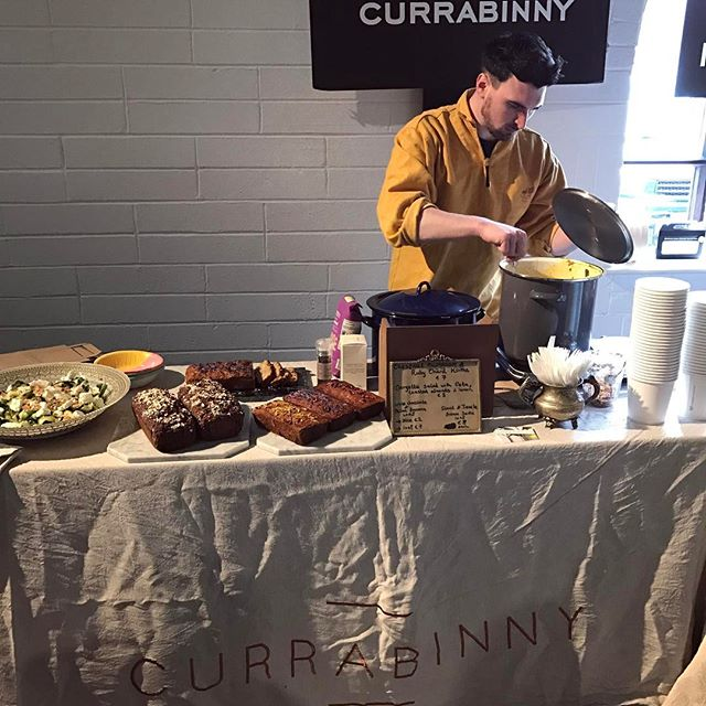 William keeping an eye on our Chestnut Mushroom & Ruby Chard Korma. #CurrabinnyFood