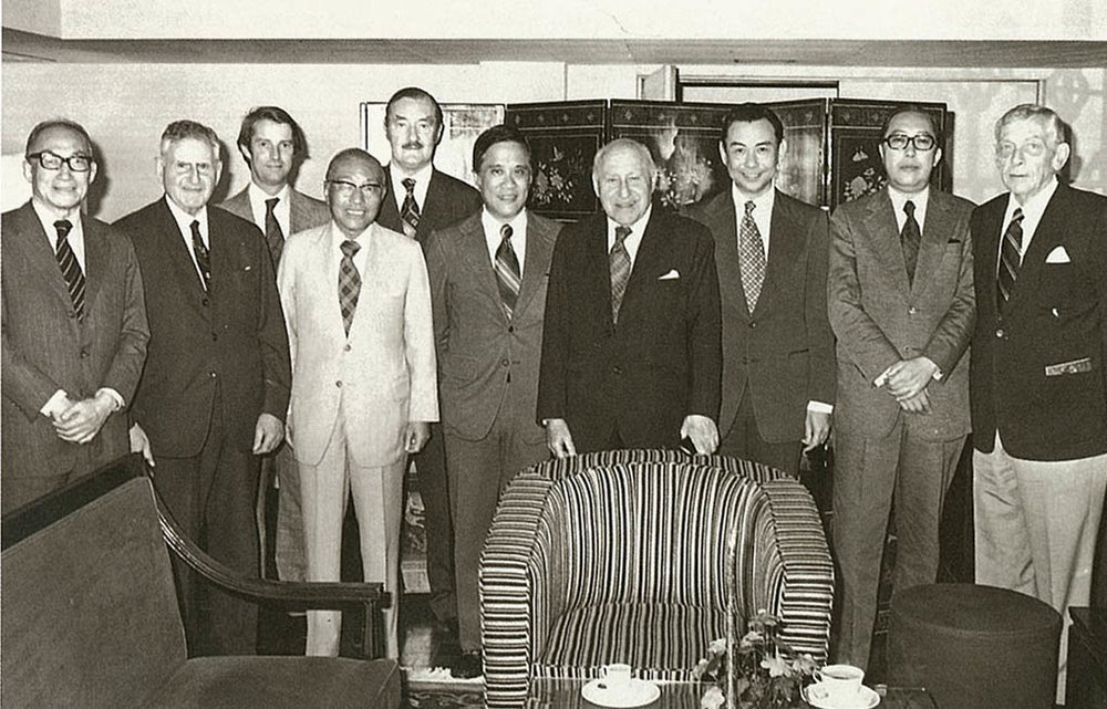 - The Directors of the Company in 1978. They include: (left to right) Y.C. Wang, Sir Horace Kadoorie, David Marchington (company secretary), K.K. Tse, W.T. Grimsdale, David Loo, Lord Lawrence Kadoorie, Tony Yeh, H.C. Yung, Linden Johnson