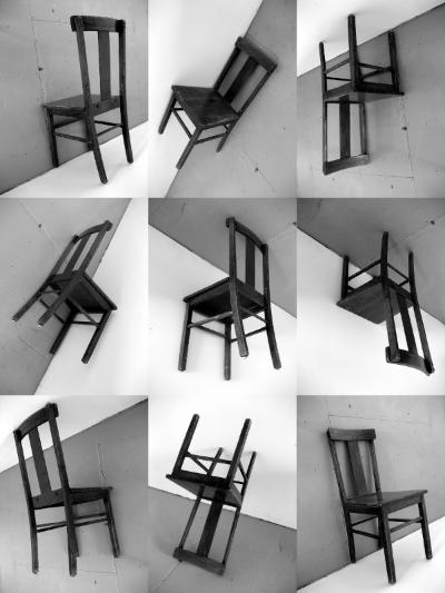 "Interrogation , 9 BW ink jet prints on epson paper, each 12' x 9"",2008"