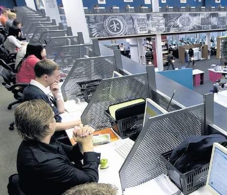 © anp.Studenten in de bibliotheek van de Erasmus Universiteit in Rotterdam.