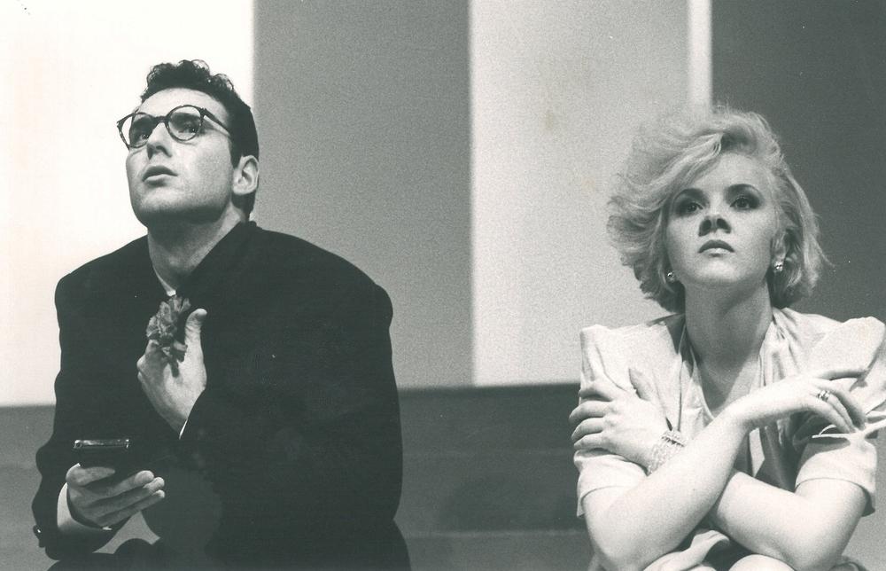 """Nel ruolo di Silvano in """"Mais e poi mais"""" - con Lucilla Lupaioli - regia C. Carafoli - Eliseo 1989"""