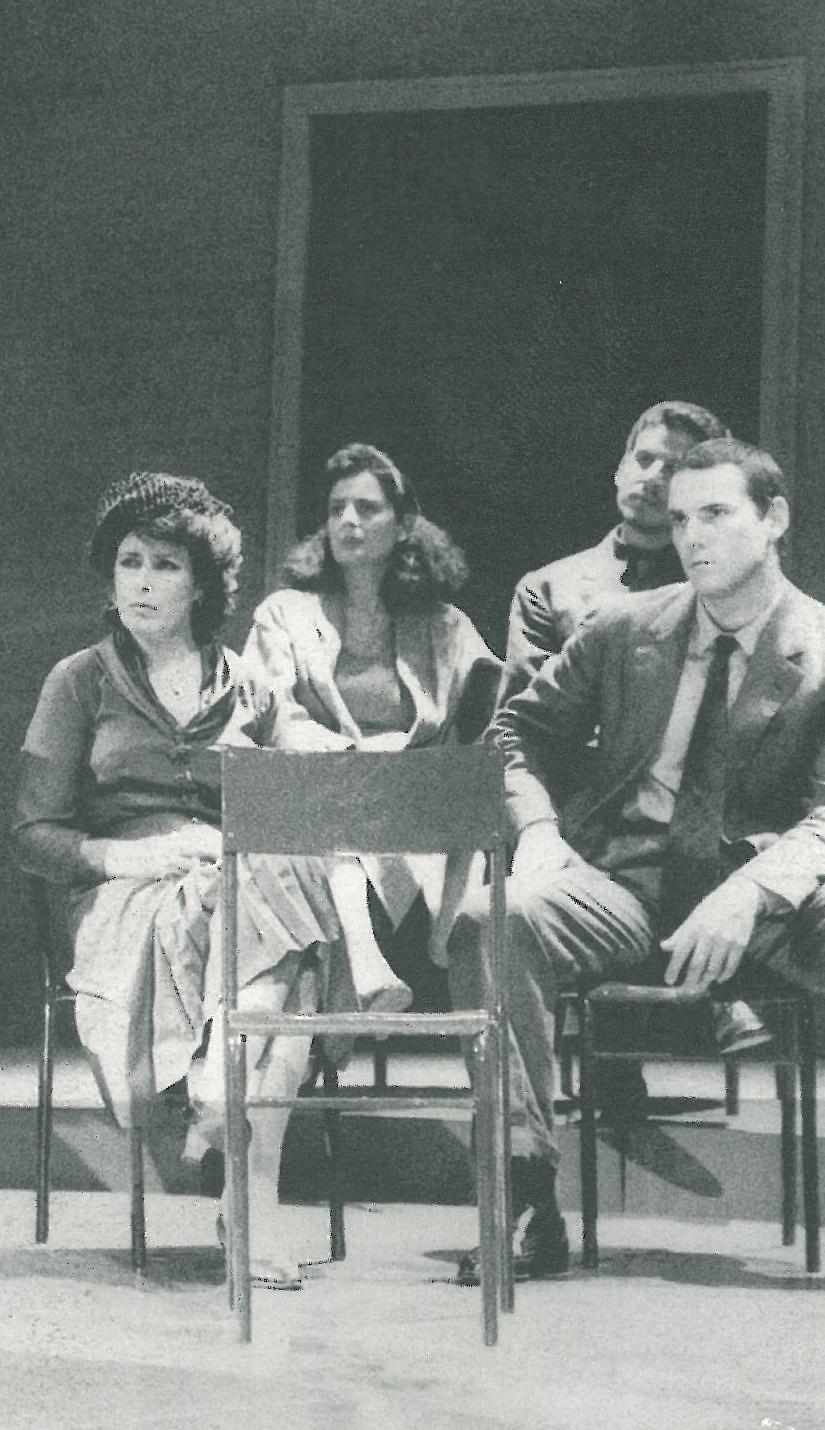 in Processo a Gesù di Diego Fabbri - regia di Giancarlo Sepe. Foto di scena con Sofia Amendolea, Rosa Ferraiolo e Nanni Coppola.