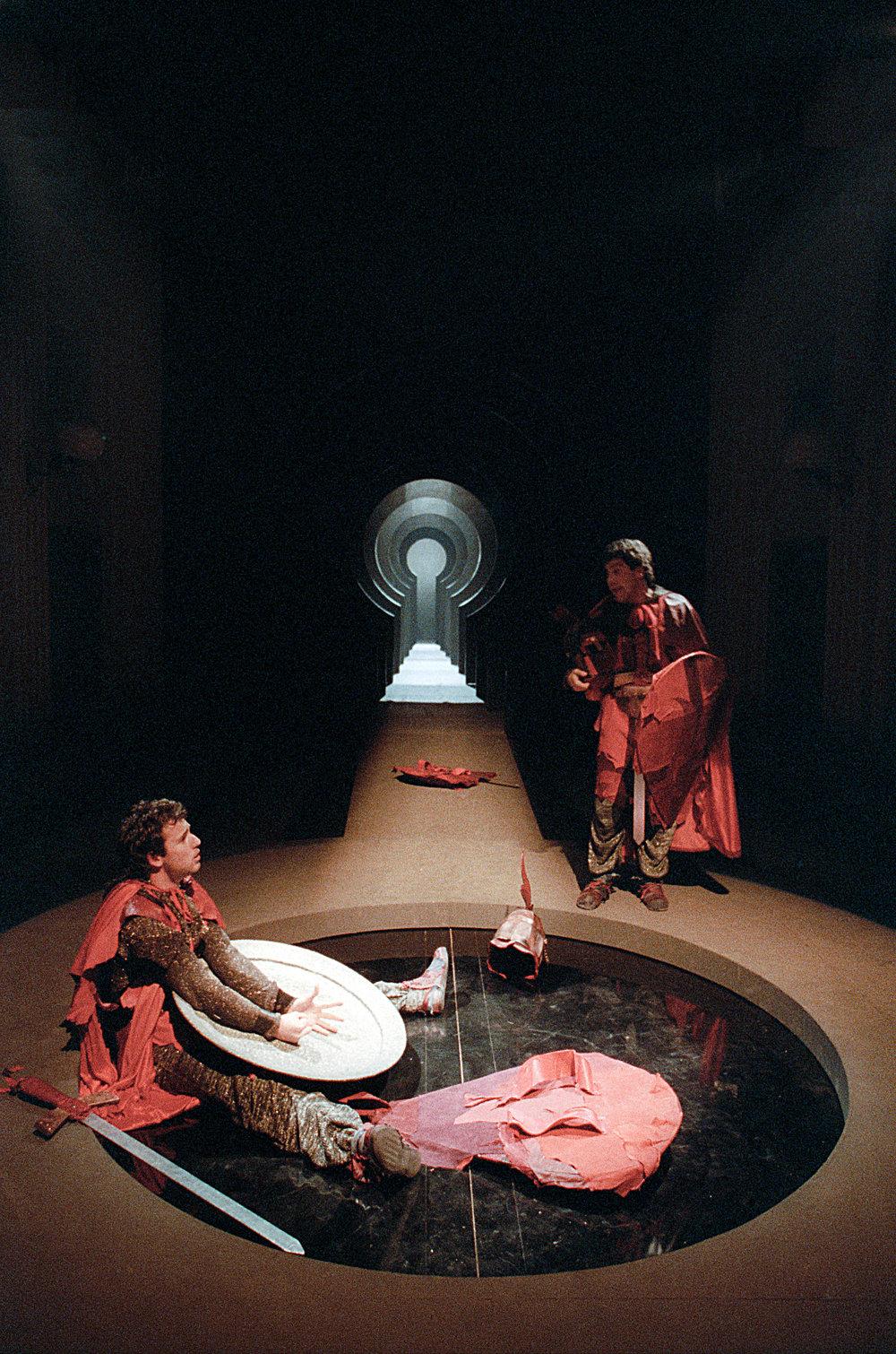 """Nel ruolo di Von Stein in """"Katchen Von Heilbronn"""" - regia Lorenzo Salveti 1987"""