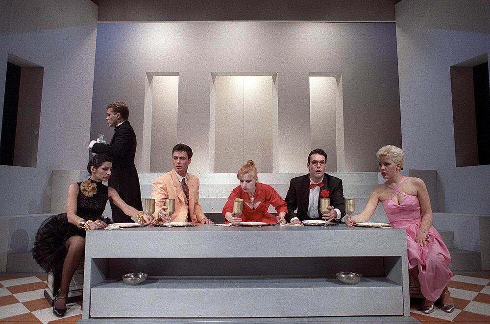 """MAIS e poi MAIS"" Piccolo Eliseo 1988 - regia C. Carafoli - con Lucilla Lupaioli, Cristina Noci, Antonella Voce, Daniele Giarratana e Klaus Tange"