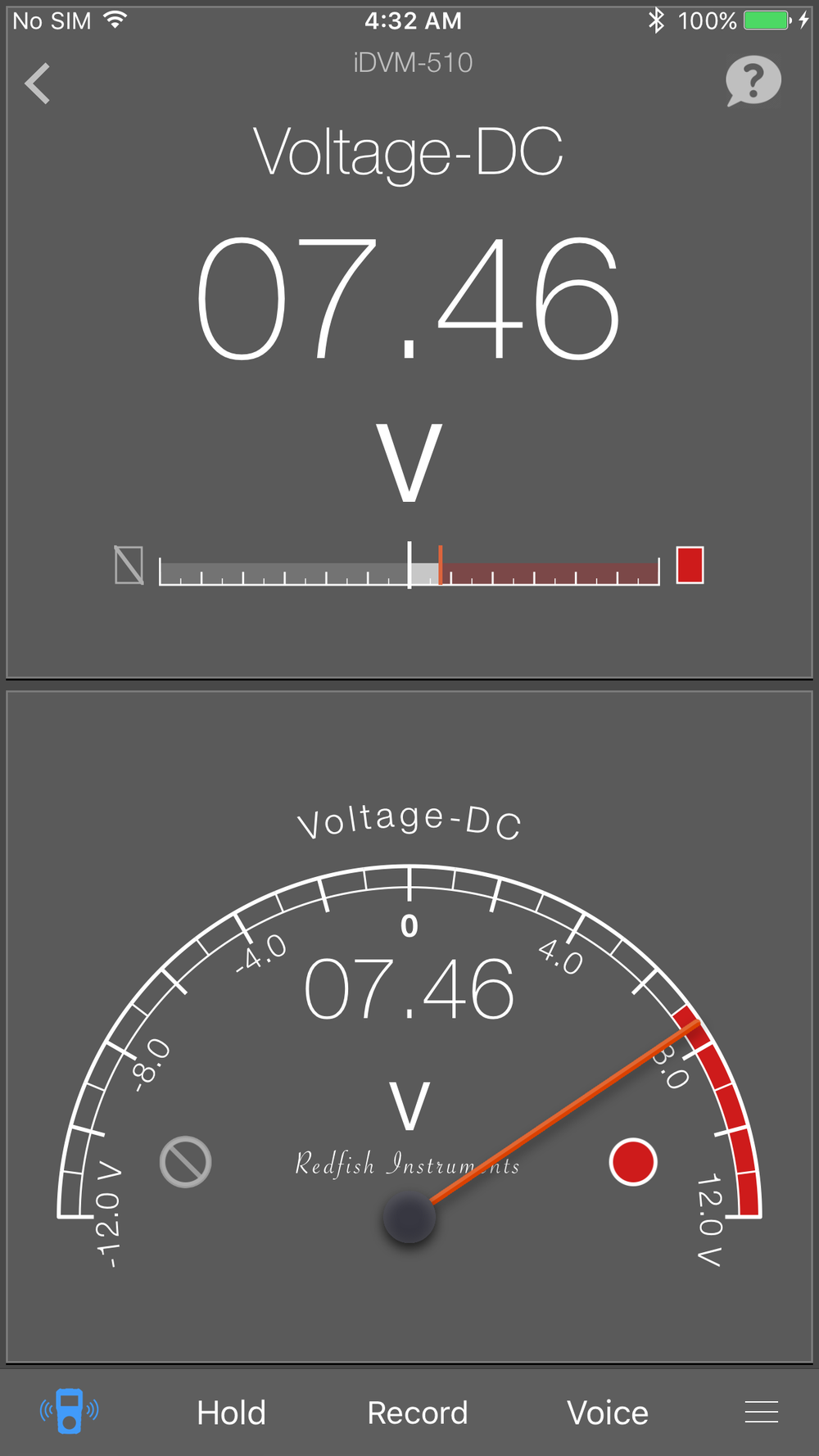 Meter View w/Analog Panel