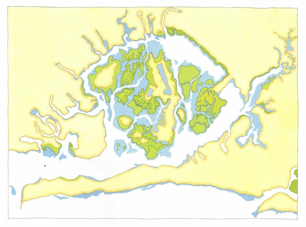 Jamaica Bay Fishing Map