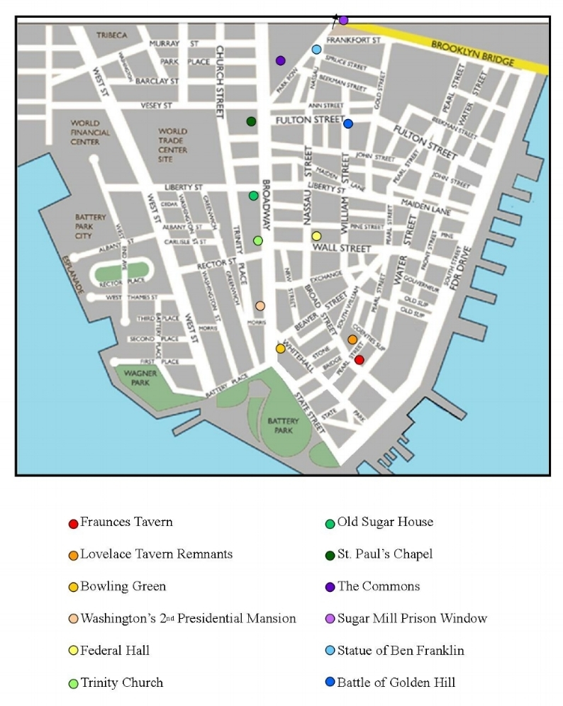 Walking Tour Site Map