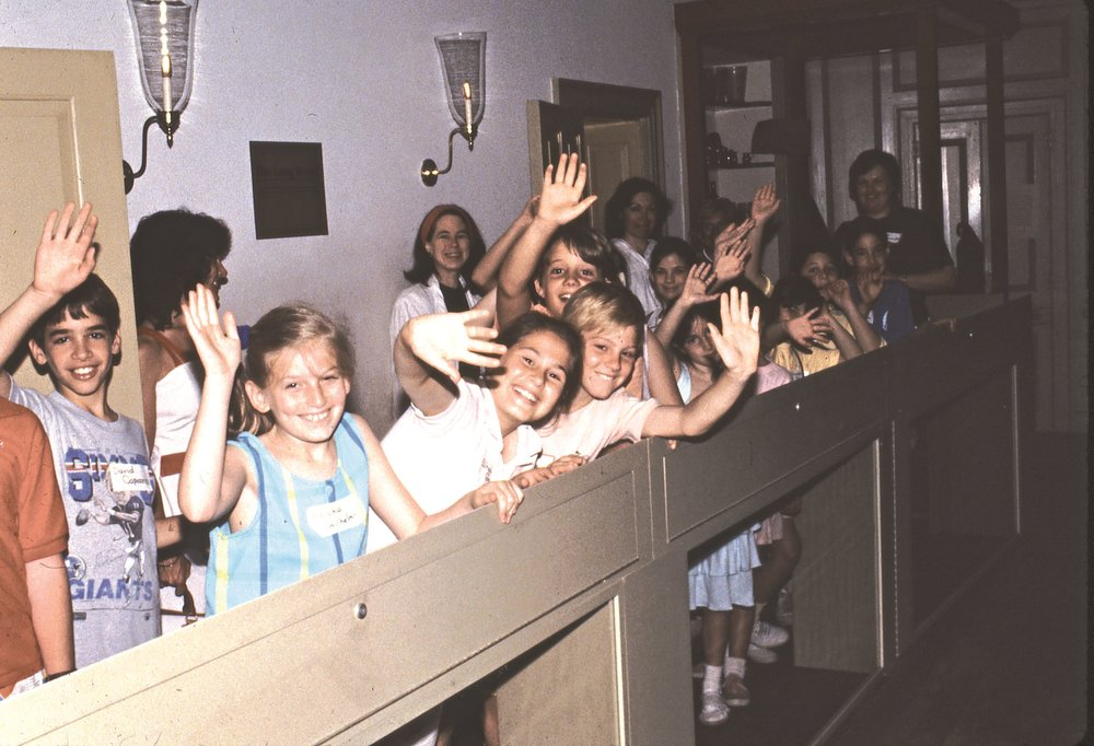a school group visits The Long room in the 1980s