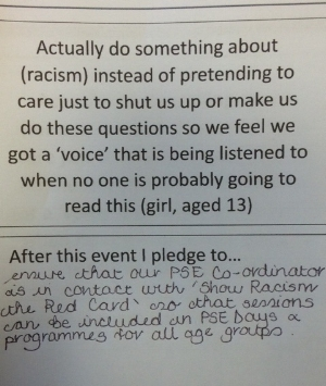 A pledge from the event