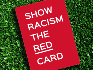 Image result for give racism the red card