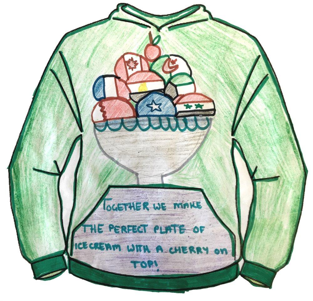 Leena Tantaway - Cardiff Muslim Primary School - Clothing Design Years 5&6 - Front