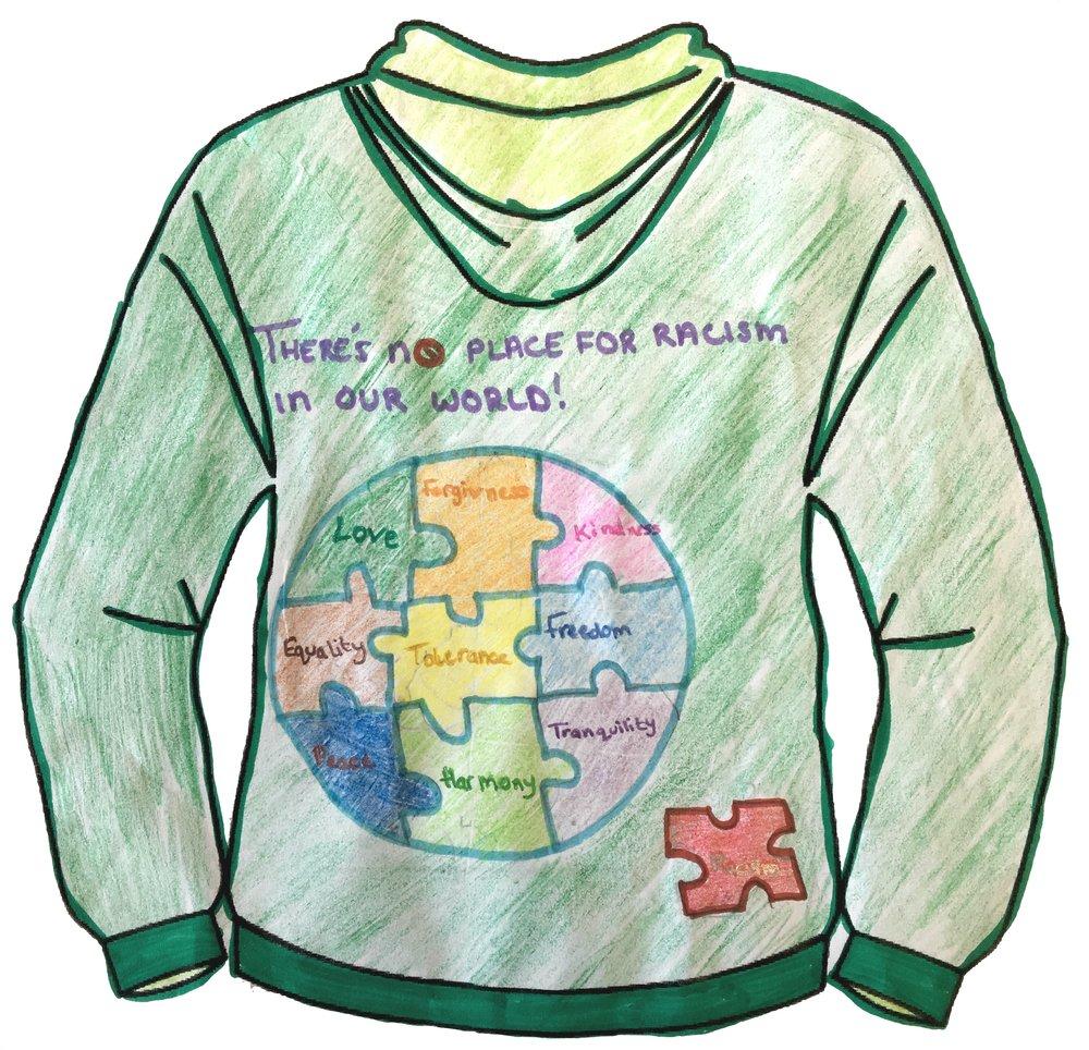 Leena Tantaway - Cardiff Muslim Primary School - Clothing Design Years 5&6 - Back