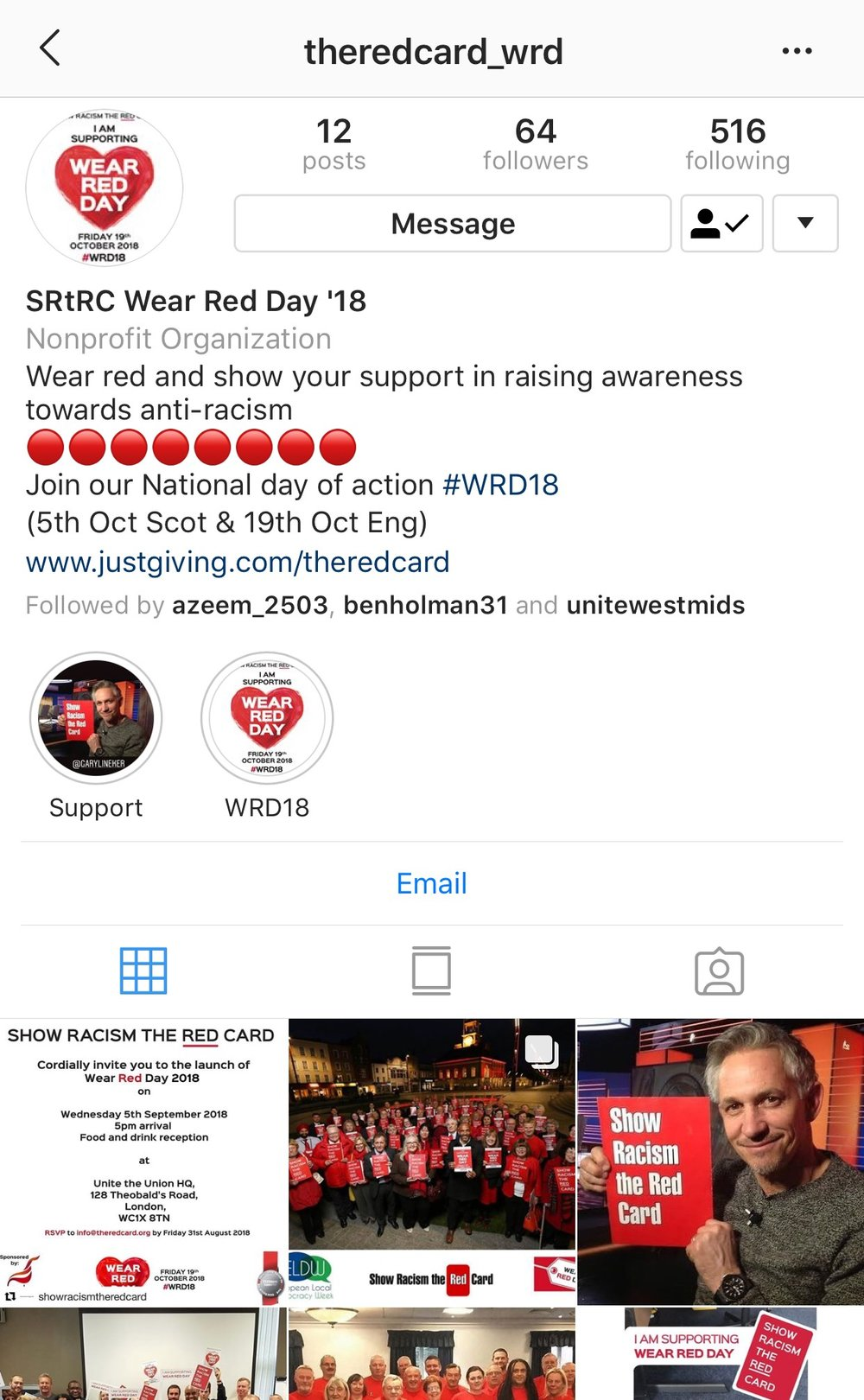 Follow the SRtRC WRD18 Instagram page for updates about the day.