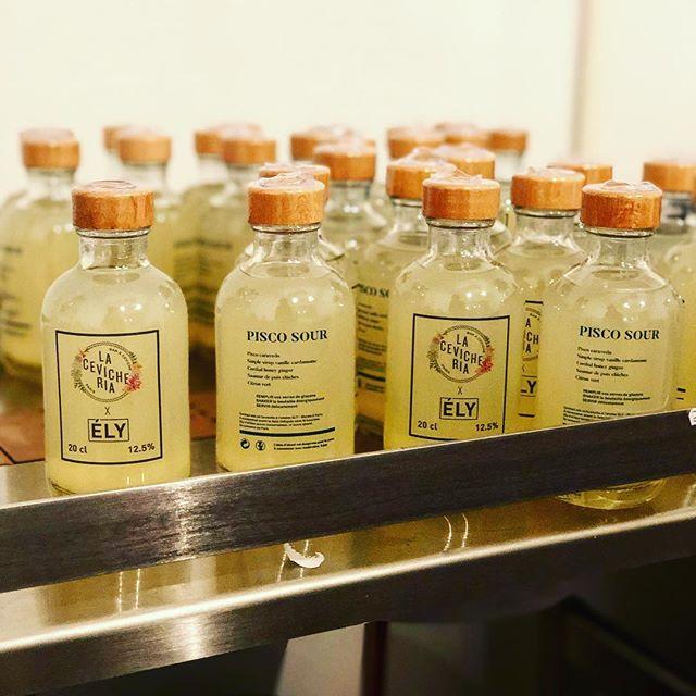 Ely on production ✊  Retour sur notre collaboration avec @la_cevicheria_paris, nous avons travaillé ensemble afin de recréer toutes les saveurs du célèbre Pisco Sour, en bouteille. Disponible uniquement dans leurs établissements🌟🌟