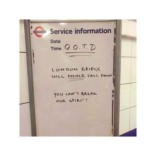 I've always loved TFL's inspirational quotes, but this one means so much more💜🌍💪🏻 #London #Tfl #home