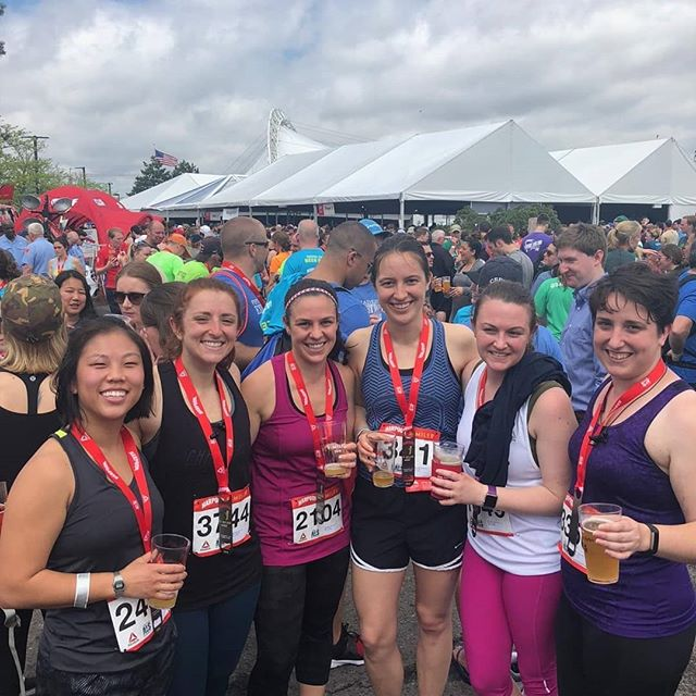 Will run for beer! The ladies of the lab recently ran in the Harpoon 5 Miler, which raised over 245k for ALS research!  #oncoruslife  #harpoon5miler  #oncoruscommunity #actuallivingscientist  #biotech  #lovewhereyouwork