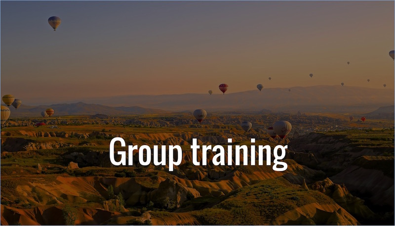 Find my group training programs here, focussing on your team performance, productivity, time management, cooperation and ways of working.