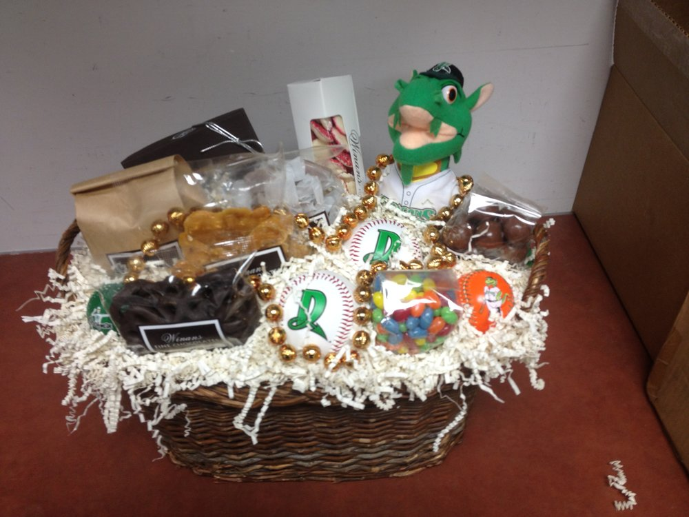 Custom Gift Baskets - Prices range from $20 to well over $100.