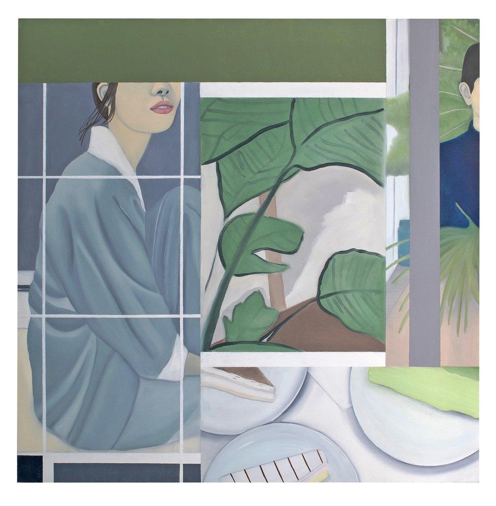 Gentoo Genmai , 2017. Oil, Acrylic, on Canvas, 100 x 100 cm