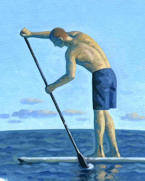 SOLD | PADDLE 2, STUDY Oil On Canvas Board