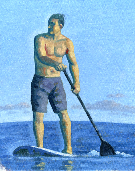 SOLD | PADDLE 1 STUDY, Oil on Canvas Board
