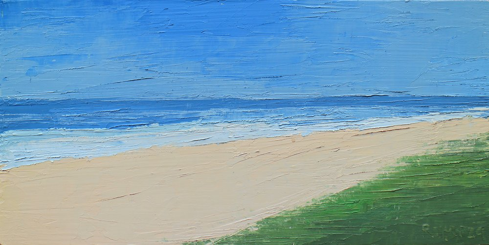 "SOLD | BAY SIDE II, 6"" x 12"" Oil on Board"