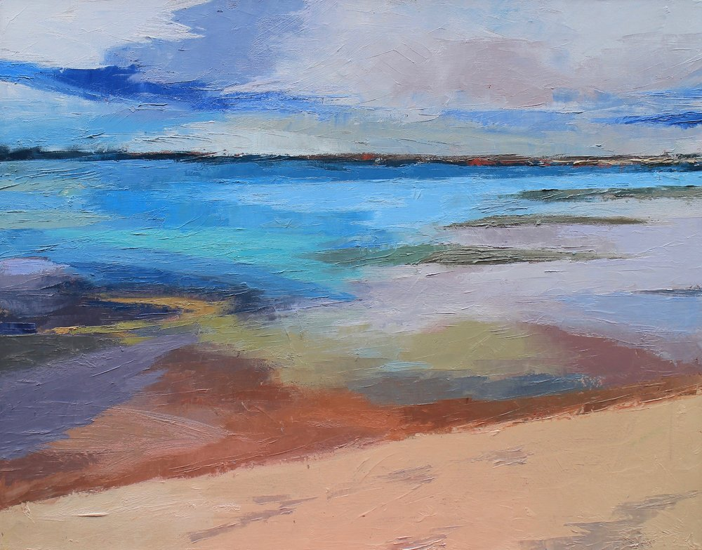 "SOLD | Low Tide Water and Light, 22"" x 28"" Oil on Canvas"