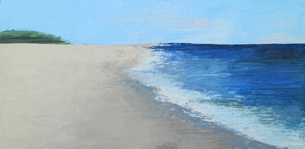 "SOLD | OCEAN SIDE II, 6"" x 12"" Oil on BOARD"