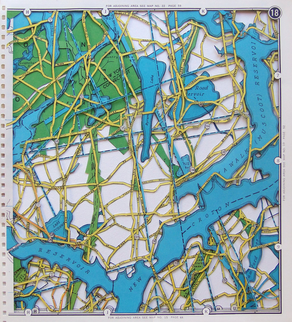 """CHAIN LINK, 8.5"""" x 6"""",  EXCAVATED VINTAGE MAPS"""