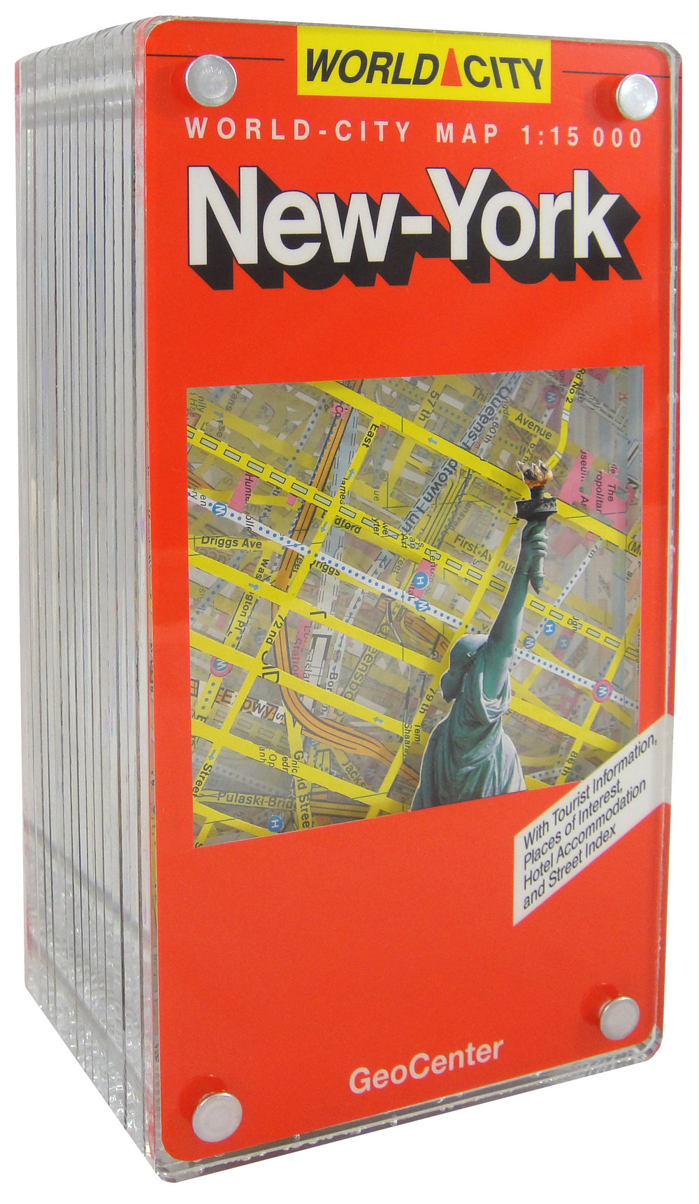 "SOLD | LIBERTY, 9""Hx4.75""Wx3.5""D, EXCAVATED VINTAGE MAP, ACRYLIC AND METAL"