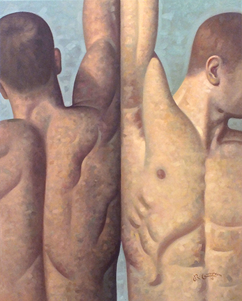 "SOLD, ANATOMY 38, 30"" x 24"", OIL ON CANVAS"