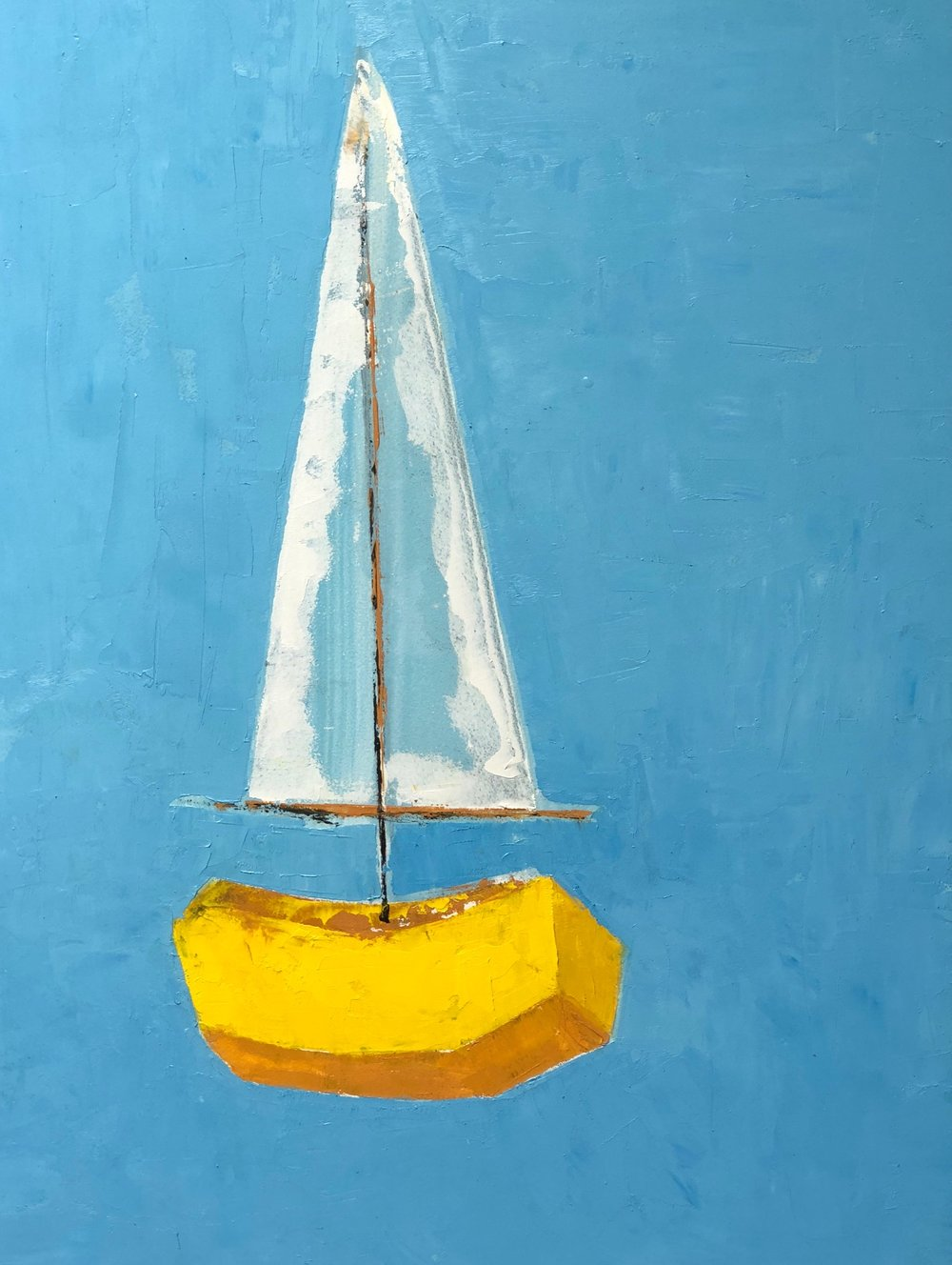 """SOLD, YELLOW, 9"""" x 12"""", OIL ON PANEL"""