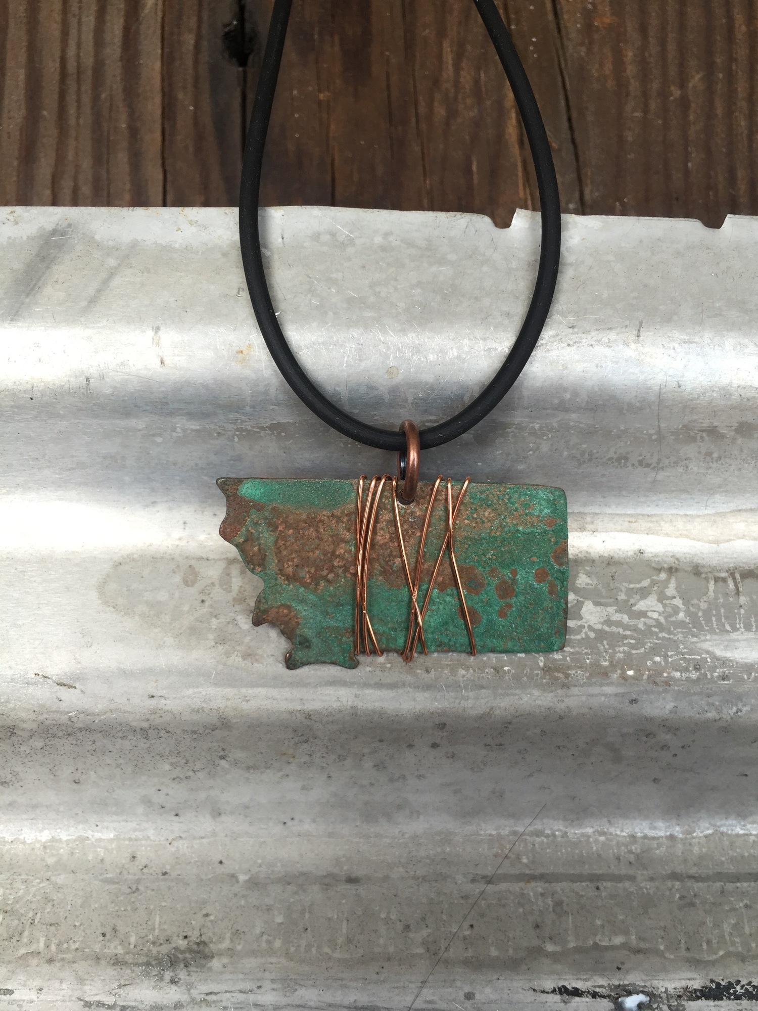 1 MT Patena green Necklace with copper wire — Moondance Jewelry ...