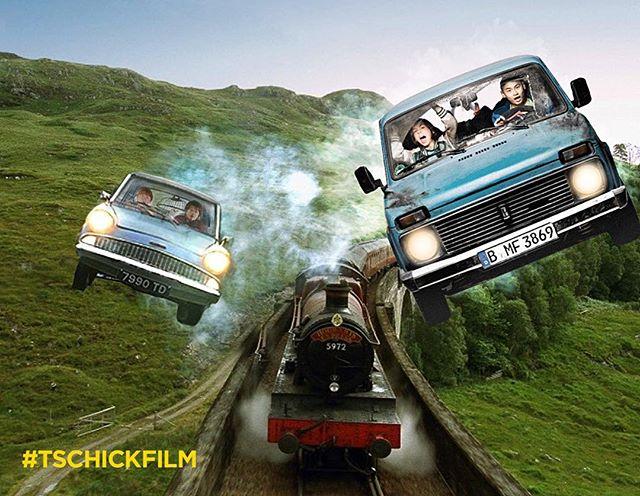 #Harrypotter und der Lada des Schreckens: Teil 8 sieht doch schon mal ganz vielversprechend aus! #tschick #tschickfilm – jetzt im #Kino!