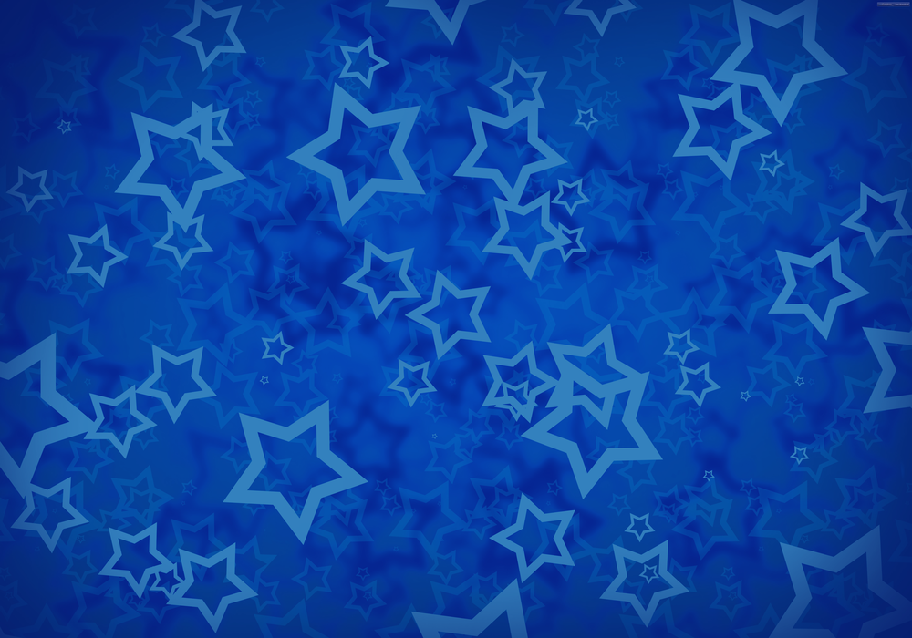 blue stars background-with blue overlay