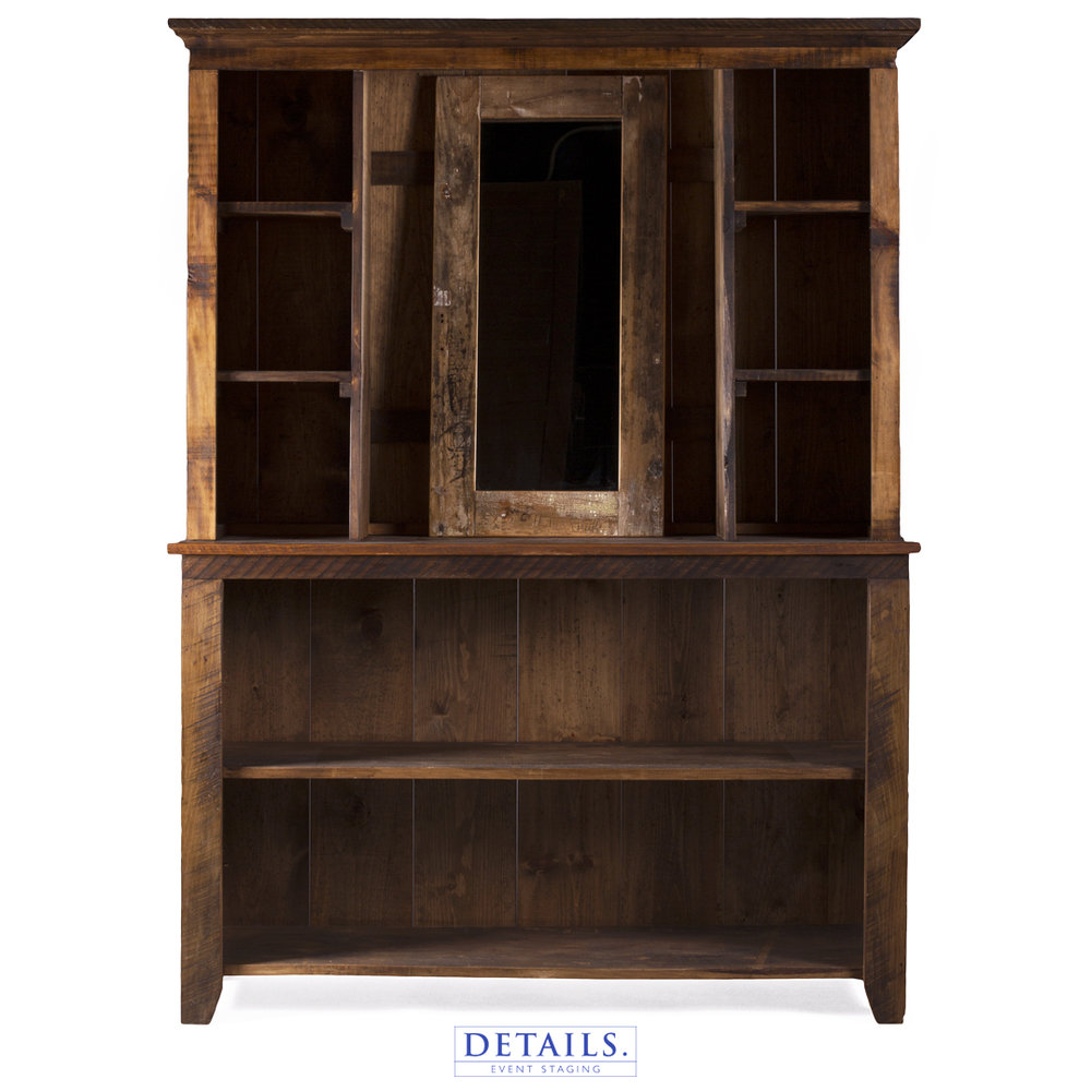 "BARN BAR HUTCH — 60""W X 17""D X 84""H"