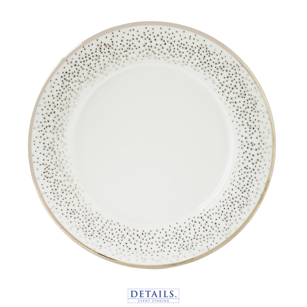 Crystallized Plate — AVAILABLE IN B&B, LUNCHEON, AND DINNER SIZES
